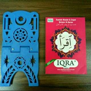 IQRA 6 dalam  1 + REHAL PLASTIC (combo set 👍)