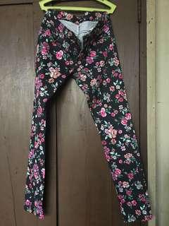 Floral skinny jeans