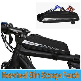 ROSWHEEL 121343 Slim Storage Pouch  Bike Top Tube Bag