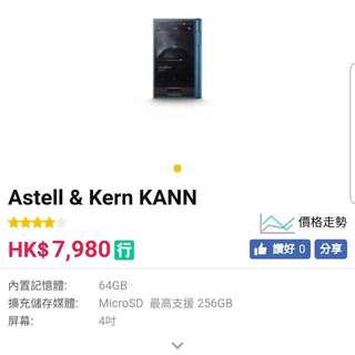 100% 新 AK Astell & Kern Kann (AK Kann DAP) 未開封