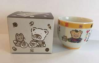 Sanrio vintage 浣熊日記 茶杯 1990