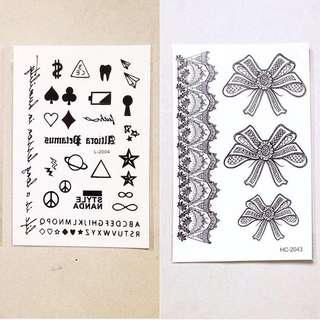 紋身貼紙 $8/1  (2張以上包郵)