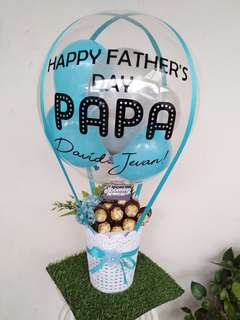 Father's day chocolates balloons