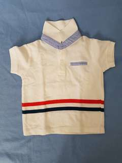 White Polo Shirt for 0 to 6mos