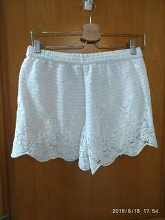 White Lace Shorts A&F