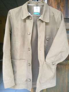 Brown Canvas Chore Jacket