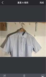 🚚 Uniqlo 水藍色襯衫 夏天晾感 全新無穿過
