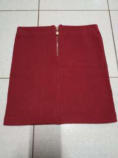 🚚 酒紅半身針織裙 可換物