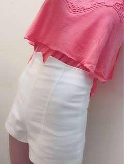 🚚 高腰後拉鍊設計短褲(超挺版)