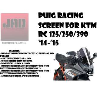 Puig Windscreen Racing KTM RC125/250/390 14-15