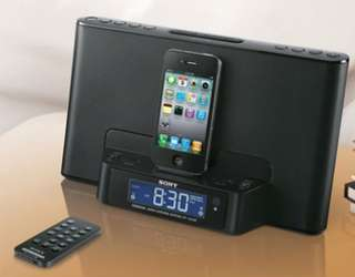 Sony Clock AM FM Radio dock for iPhone iPod