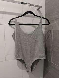 Bardot Grey Bodysuit