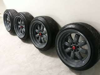BUY NOW @ 25K ONLY! 17x9 Watanabe Magwheels