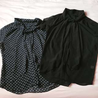 UNIQLO 2-Pack Short Sleeve Blouses