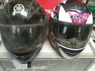 LS2 Helmet Full Face w/ICC sticker and 1 black full face Helmet