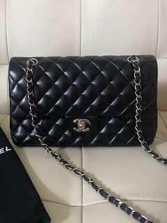 Last price! Chanel Medium Classic Double Flap Black Bag