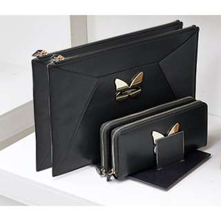 MaxMara Weekend black pouch clutch bag