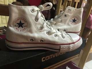 Converse hi cut size 1 white