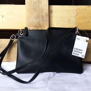 H&M Cross Body Bag Black PRELOVED JAPAN BAG