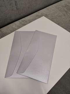 Shimmery metallic silver-lilac envelopes (1 lot of 154 pcs)