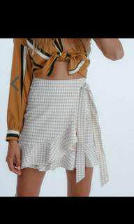 Verge Girl Gingham Check Ruffle Skirt