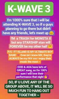 Kwave 3 (Monsta X, Boyfriend, Cosmic Girls, Jeong Sewoon, AOA, EXID, FT ISLAND)