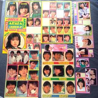 懷舊貼紙 日本明星 80年代 中古