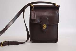 Vintage genuine brown leather Coach Murphy bag 9930