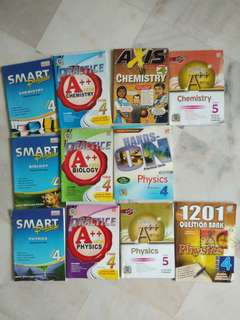 SPM revision books for Physics, Chemistry and Biology