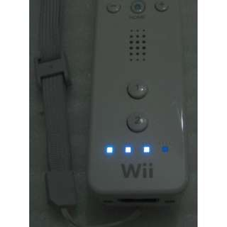 white Standard Wii Remote Controller and lanyard