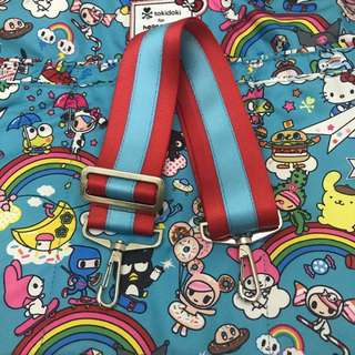 (Sale) 2 inch dual color teal blue on red seatbelt strap for jujube