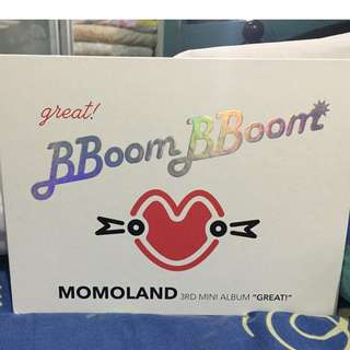 "Momoland 3rd Mini Album ""Great"" Brand new  *opened*"