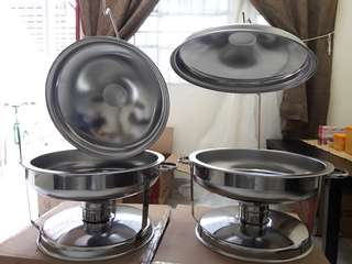 Tray bell dome chafing dish (for rent)