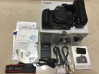 🚚 Canon 5d2 機身 盒裝配件