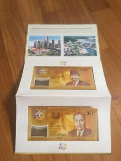 Brunei-Singapore 50 years Commemorative Notes