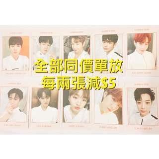 Wanna One 小卡 Art book version