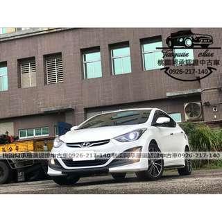 【FB搜尋桃園阿承】現代 超人氣ELANTRA EX 2015年 1.8 白色 二手車 中古車
