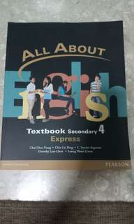 All About English Textbook Secondary 4