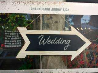 Chalkboard for wedding deco