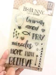 Amen Stamps by BoBunny