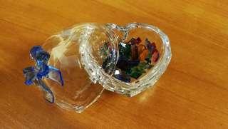 Swarovski 心形盒碎石水晶擺設