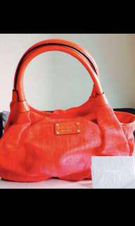 BN Kate spade red handbag Slouchy bag with handles AUTHENTIC