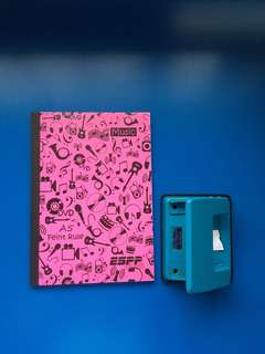 Pink A5 Fient Rule Notebook