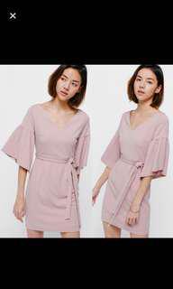 🚚 Love Bonito Eldrid Bell Sleeve Sash Dress