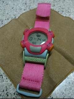 Swatch pink sport watch⌚
