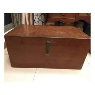 Antique Chinese Hand Made Wooden Storage Chest Box