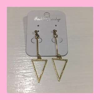 Dangle Earrings (Triangle & Square)