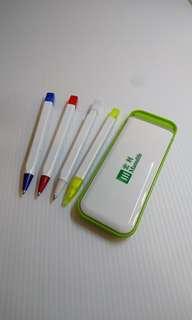 4 In 1 原子筆,鉛芯筆,螢光筆,文具套裝