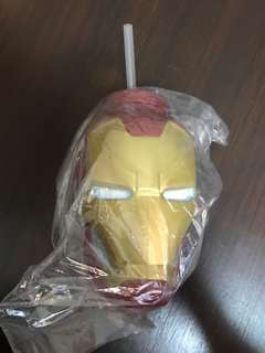 Marvel Ironman cup with straw (Brand new)