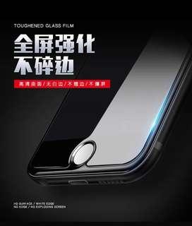 iPhone 6, 7, 8 plus 手機玻璃貼 高清強化 不易碎 防指紋 非全屏 $25/張
